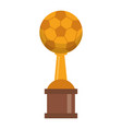 soccer trophy cup championship vector image vector image