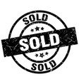 sold round grunge black stamp vector image vector image