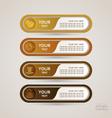 Sticker Label coffee set vector image vector image