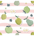 summer seamless pattern with fruits festive vector image vector image