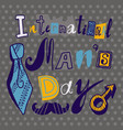 tie mens day concept background hand drawn style vector image vector image