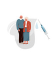 vaccinate elderly background old couple vector image
