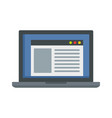 virtual computer learning icon flat style vector image vector image