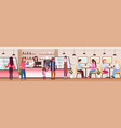 waitresses serving mix race people clients coffee vector image vector image