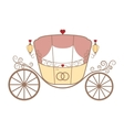 wedding retro carriage with curls on white vector image
