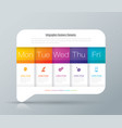 weekly planner monday - friday infographics design vector image vector image