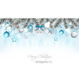 winter landscape banner with silver bells vector image