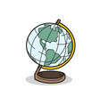 world model on a white background vector image vector image
