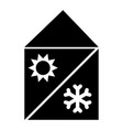 home cooling and heating system the black color vector image
