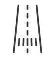 road line icon asphalt and traffic way sign vector image