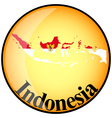 button Indonesia vector image