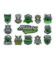 a collection emblems badges on a military vector image vector image