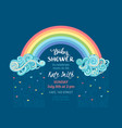 baby shower template vector image vector image