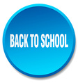 back to school blue round flat isolated push vector image vector image