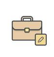 bag briefcase business edit portfolio vector image vector image