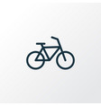 bicycle outline symbol premium quality isolated vector image vector image