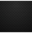 Black metal texture with holes vector image