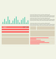 business infographic design graphic style vector image vector image
