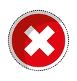 button with x isolated icon vector image