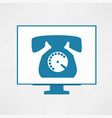 calling icon vector image vector image