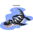cartoon smiling pliosaur vector image vector image