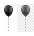 celebratory transparent black balloons pumped vector image vector image