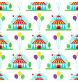 circus show entertainment tent marquee outdoor vector image vector image