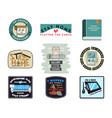 corona virus badges and set covid19