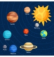 Cosmic with planets of the solar system vector image vector image