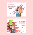 couple in love concept man and woman relationship vector image vector image