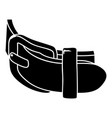 daily belt icon simple style vector image