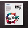 Design template for an Annual Business Report vector image