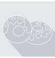 donut icon with glaze eps 10 vector image vector image
