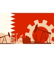 Energy and Power icons set with Bahrain flag vector image vector image