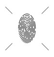 fingerprint monochrome icon concept abstract vector image vector image