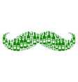 gentleman moustache composition of wine bottles vector image