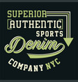 graphic superior authentic sports vector image vector image