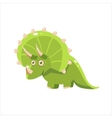 Green Happy Triceratops vector image