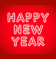 greeting red card new year congrats banner white vector image