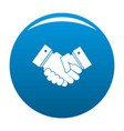 hand peace icon blue vector image vector image