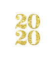 happy new year 2020 numbers golden confetti vector image vector image