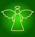 icon angel with wings and nimbus vector image