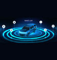 isometric smart 3d crossover car banner vector image