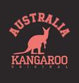 kangaroo emblem vector image vector image