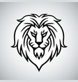 lion head logo template design vector image vector image