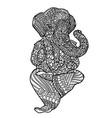 lord ganesha on indian mandala style asian vector image