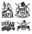 mafia emblems labels badges logos vector image vector image
