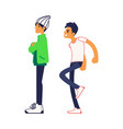 male student is teased behind his back vector image vector image