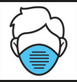 medical mask protective measures and healthcare vector image vector image