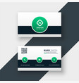modern stylish company business card template vector image vector image